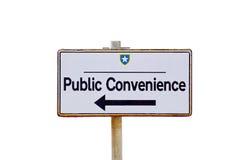 Zeiger zur öffentlichen Toilette Lizenzfreie Stockfotografie