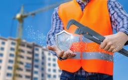 Zeigt ein Symbol einer Garantie der qualitativen Durchführung von Arbeiten lizenzfreie stockfotos