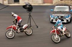 Zeigung des Hollywood-Bremsungs-Fahrers 2 in der Film-Welt Gold Coast Stockbilder