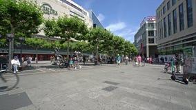 Zeil街道在法兰克福 股票录像