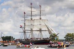 Zeil Amsterdam 2010 - paradeer zeil-binnen Royalty-vrije Stock Afbeeldingen