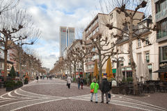 The Zeil avenue in winter cold day Stock Photos