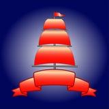 Zeil, mast, band Vector Illustratie