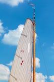 Zeil met het Nederlandse provinciale symbool van Frisia Stock Afbeeldingen