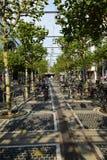 ZEIL-straatmening in Frankfurt op de Leiding, Duitsland stock afbeeldingen
