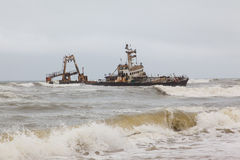 Zeila Shipwreck stranded on 25th August 2008 in Namibia Royalty Free Stock Photo