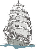 Zeilboot Stock Illustratie