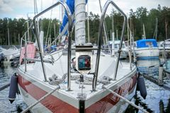 Zeilboot royalty-vrije stock afbeelding