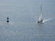 Zeilboot Charleston Harbor South Carolina Stock Foto