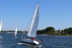 Zeilboot in Denemarken Royalty-vrije Stock Foto's