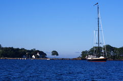 Zeilboot in Maine Stock Foto's