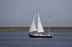 Zeilboot segelbåt royaltyfri fotografi