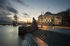 Zeilboot in St. Petersburg Royalty-vrije Stock Foto's