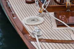 Zeilbootdetail Royalty-vrije Stock Afbeelding