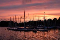 Zeilboothaven Royalty-vrije Stock Foto