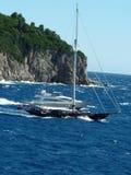 Zeilbootjacht Stock Afbeeldingen