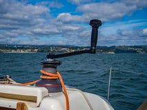 Zeilbootkruk stock afbeelding