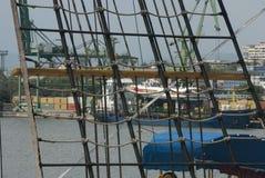 Zeilbootoptuigen Royalty-vrije Stock Fotografie