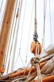 Zeilbootoptuigen Royalty-vrije Stock Afbeelding