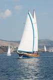 Zeilboten in de Middellandse Zee Royalty-vrije Stock Afbeeldingen