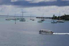 Zeilboten in de Stille Zuidzee worden vastgelegd die Stock Fotografie