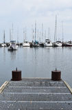 Zeilboten in Meer Michigan Royalty-vrije Stock Afbeeldingen