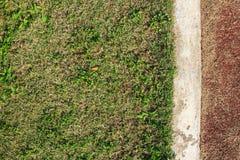 Zeile auf Fußballplatz Stockfotografie