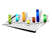 Zeile auf Weißbuch und Statistiken Lizenzfreie Stockbilder