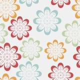 Zeile Blumen Lizenzfreies Stockfoto