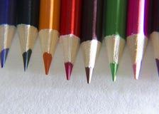 Zeile der farbigen Bleistifte Stockbild