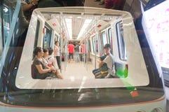 Zeile der Untergrundbahn APM in Guangzhou Lizenzfreies Stockfoto