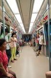 Zeile der Untergrundbahn APM in Guangzhou Lizenzfreies Stockbild
