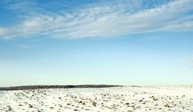 Zeile des Horizontes. Stockfoto