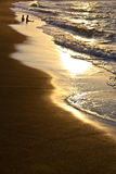 Zeile des Strandes Lizenzfreies Stockfoto