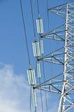 Zeile des Stroms Kontrollturm lizenzfreies stockbild