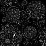 Zeile Kunstauslegung Weihnachtsnahtloses Muster Stockfoto