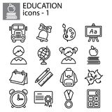 Zeile Set Bildungsschule vektor abbildung