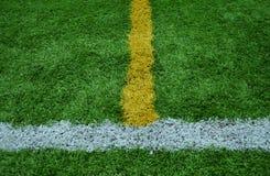 Zeile Streifen auf dem grünen Gras stockfotografie