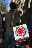 Zeile, zum der Red Hot Chili Peppers-Karte zu kaufen Lizenzfreies Stockfoto