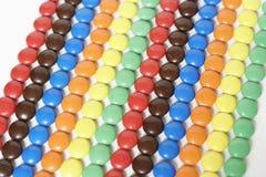 Zeilen der Süßigkeit Lizenzfreies Stockfoto
