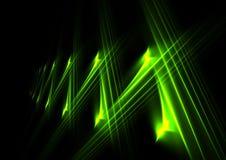 Zeilen des Grüns Stockbild