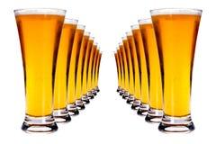 Zeilen des Lager-Bieres Lizenzfreies Stockbild