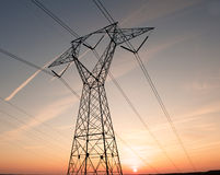 Zeilen des Stroms stockfoto