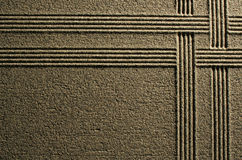 Zeilen im Sand Stockbilder