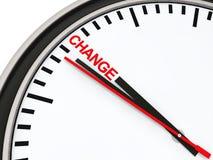 Zeitänderung der Borduhr 3d Stockfotografie