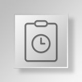 Zeit 3D Gray Square Object Symbol Concept stock abbildung