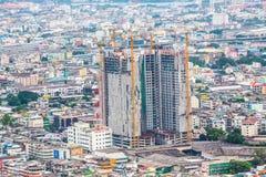Zeit der Bangkok-Flussansicht in der Dämmerung, Thailand Stockbilder