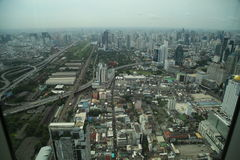 Zeit der Bangkok-Flussansicht in der Dämmerung, Thailand Lizenzfreies Stockbild
