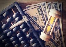 Zeit des Geldes. Stockfoto
