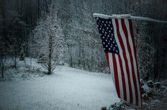 Zeit, die Flagge herunterzunehmen Stockfoto